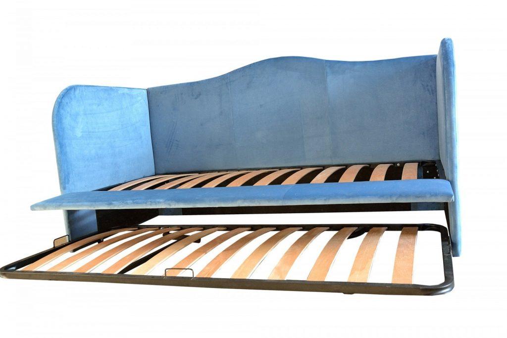 Deschidere sistem somiera rabatabila montata pe pat tapitat Sienna-min