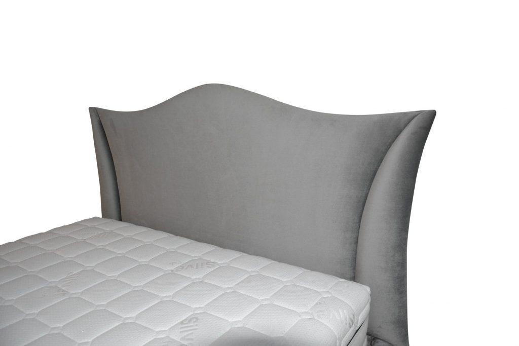 Detaliu tablie de pat tapitat Monte Carlo cu inaltime saltea cu husa detasabila-min