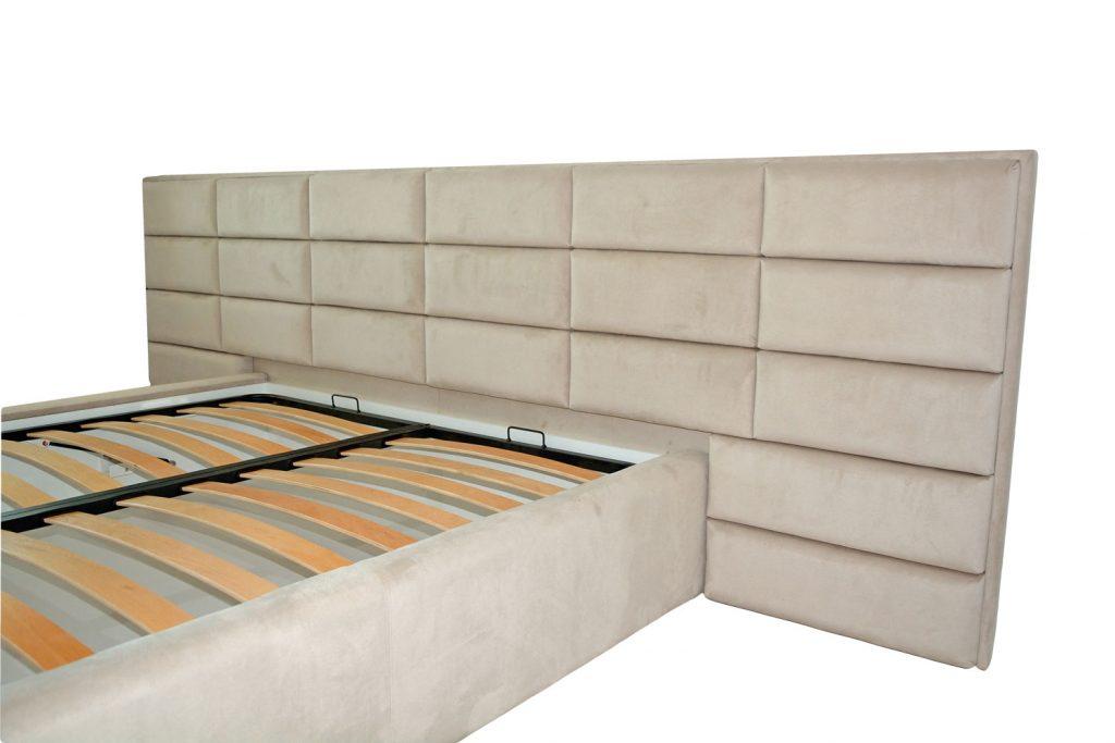 Modelul patului tapitat si imbinarea acestora prin cusaturile detaliate ce emana o eleganta moderna stil hotelier-min