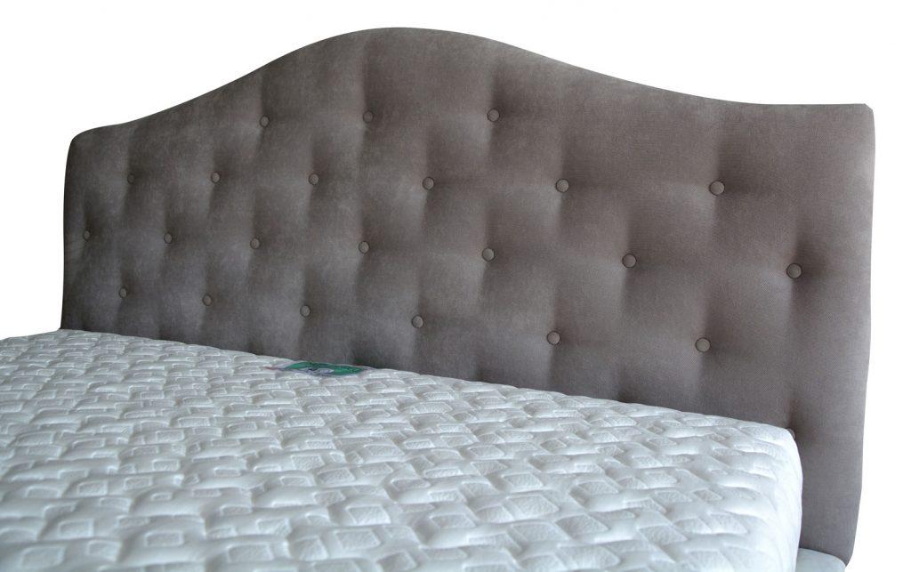 Tablie de pat tapitat Genova tamponata 160 cu lada depozitare somiera rabatabila din lemn stratificat de fag picioare plastic h8 cm iak.ro-min