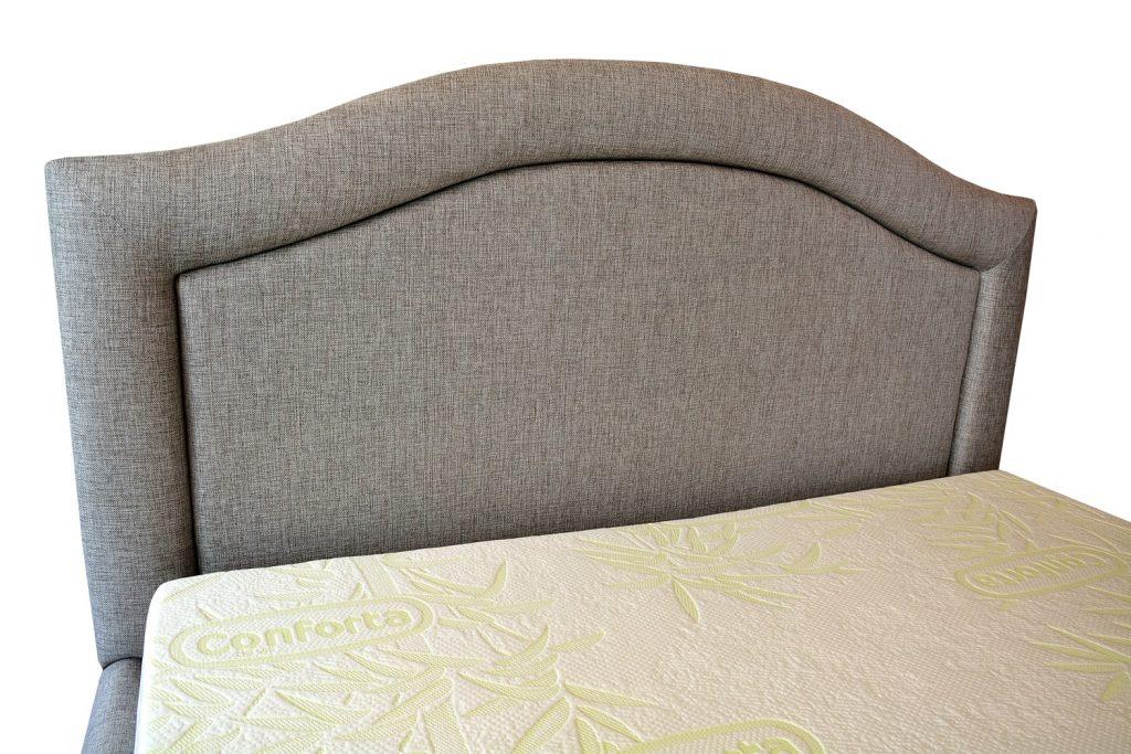 Testiera 160 de pat tapitat cu stofa gri model valencia si cu posibilitate de a pune butoni imbracati sau cristale swarovski-min