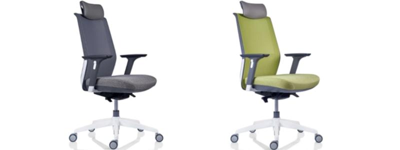 scaune tesla mesh gri, verde