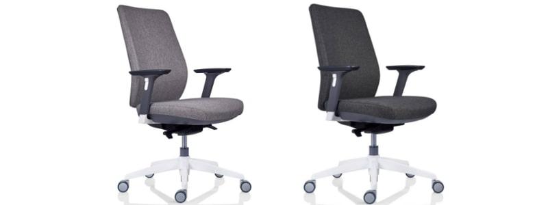 scaune tesla stofa tapitat gri deschis si gri inchis