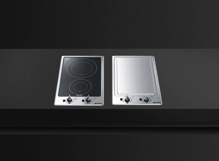 Plita electrica si gratar Teppanyaki Smeg PGF30T-1 model domino