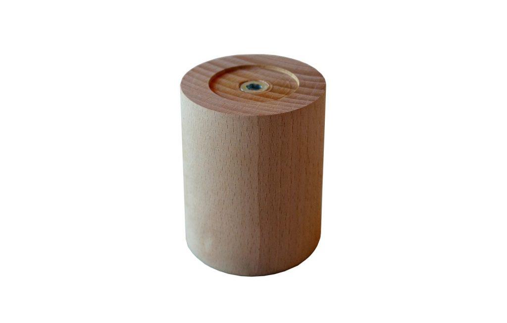 Picior lemn rotund din fag h80 iak.ro