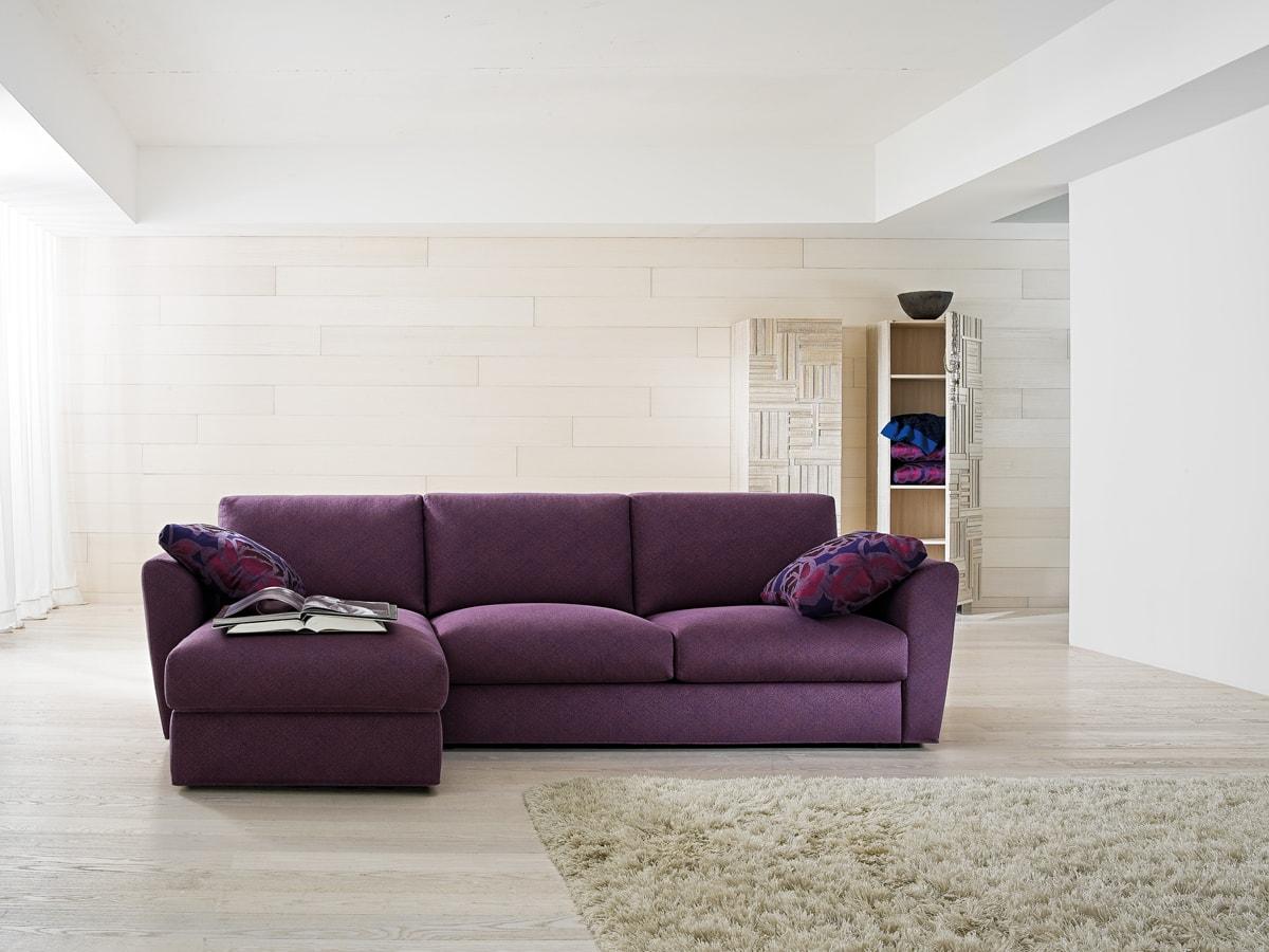 Canapea pe colt VICKY modulara, fixa, extensibila pat, cu husa detasabila iak.ro