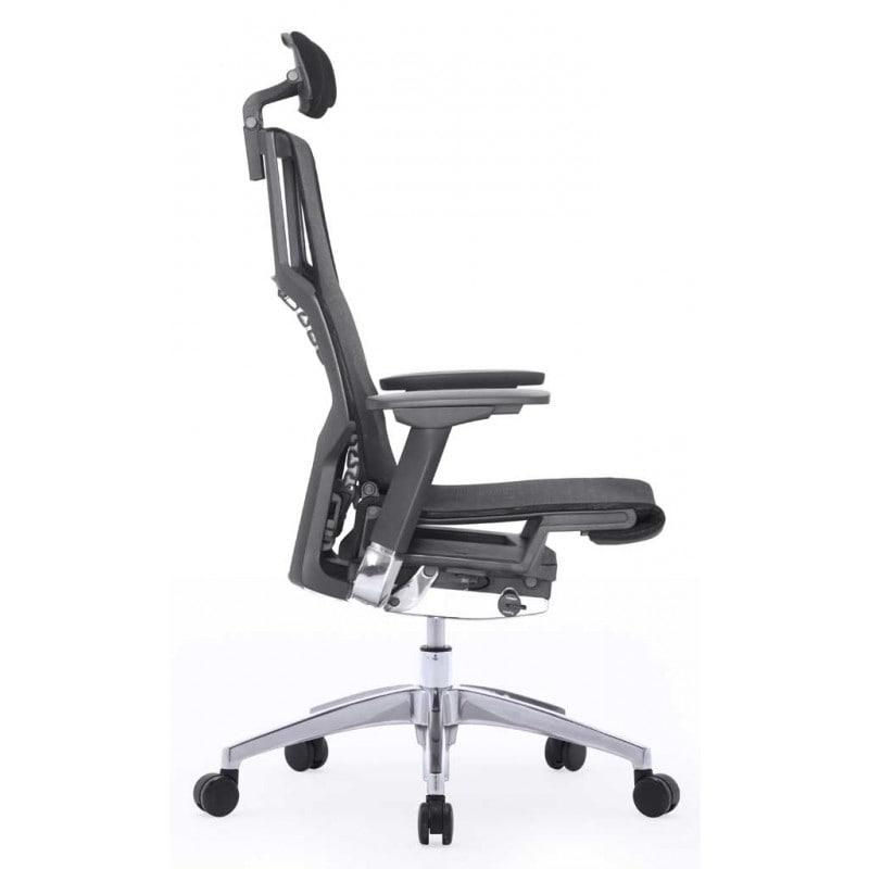 Scaun ergonomic POFIT rotativ mesh cu tetiera